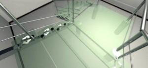 Precio Vidrio de importación peldaños de cristal para escalera