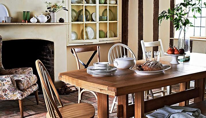 mesas de madera cocina