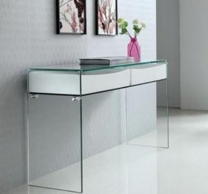Consolas de cristal a medida precios cristales para muebles - Recibidores a medida ...