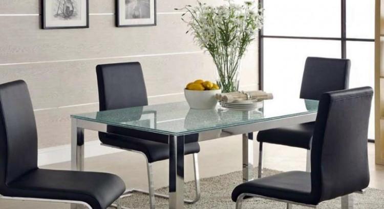 Mesas de comedor. Tipos de cristales para mesas