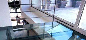 vidrios pisables