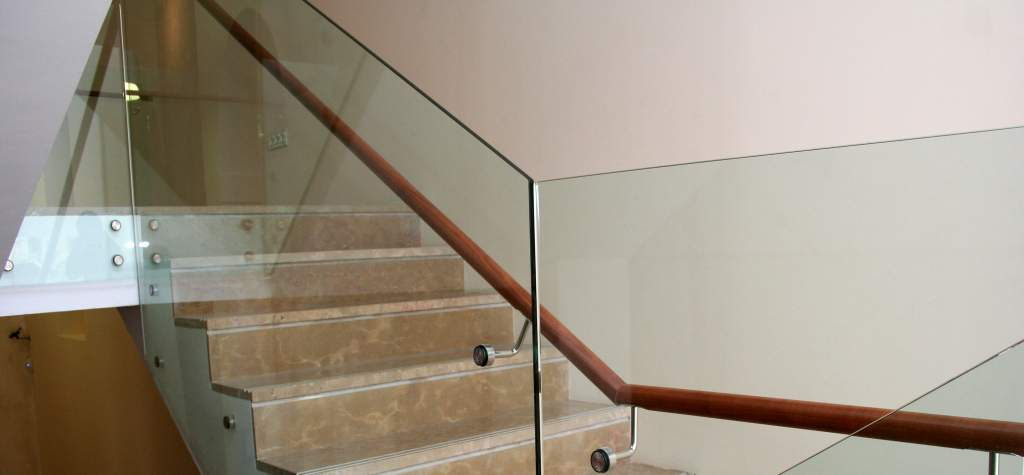 Vidrio barandilla de la escalera vidrio de barandillas - Barandillas de escaleras ...