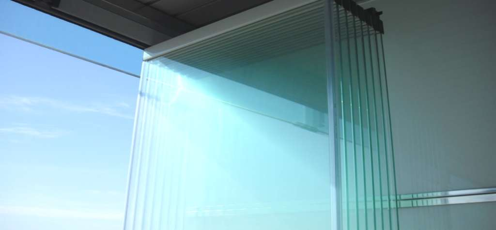 Cortina de vidrio plegable materiales de construcci n para la reparaci n - Precio cristal blindado ...