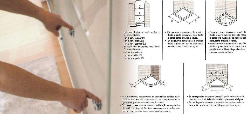 mamparas de baño, precios y medidas de mamparas ducha a medida correderas abatibles plegables