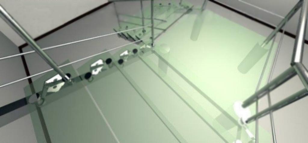 Peldaños De Cristal Translucido Para Escaleras De Cristal