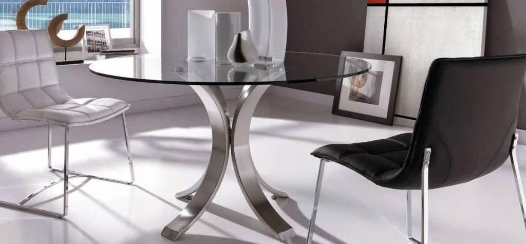Cristales para mesas redondas amazing estructura tapa de - Cristales para mesas redondas ...